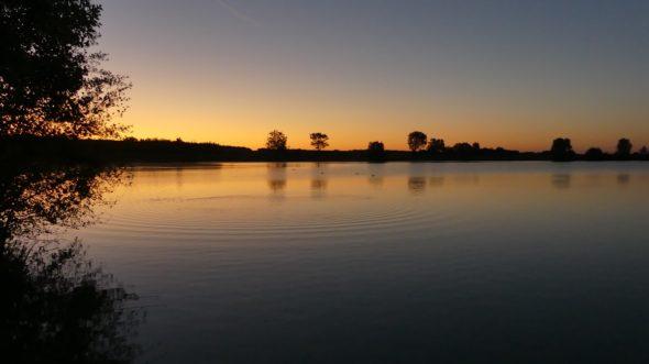 Schöner Sonnenaufgang beim zweiten Boilie-Test