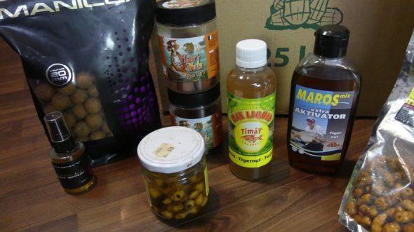Nussige und Tigernuss-Boilies sowie Tigernuss-Liquids