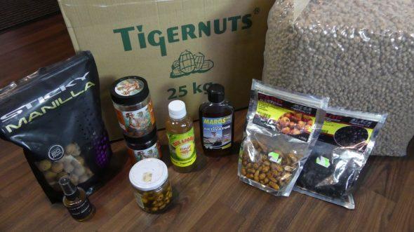 Tigernüsse und einige Produkte für Karpfenangeln in diesem Jahr