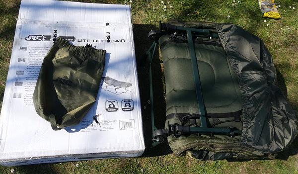 Meine Karpfenliege und Schlafsack von JRC