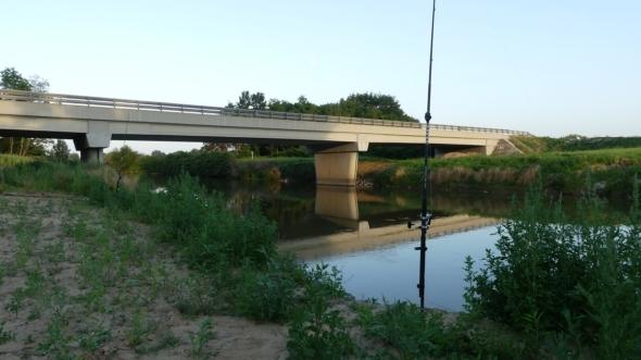 Wallerangeln am Fluss Raab bei Körmend